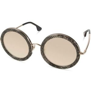 Alice + Olivia Beverly Silver Snake Sunglasses New